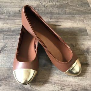 H&M Gold Toe Flats